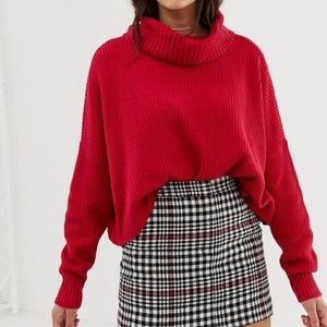 Hollister Red High Neck Sweater